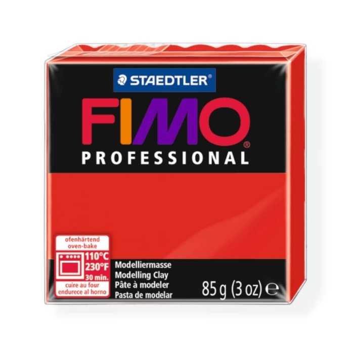 Fimo Professional 85g echt rood