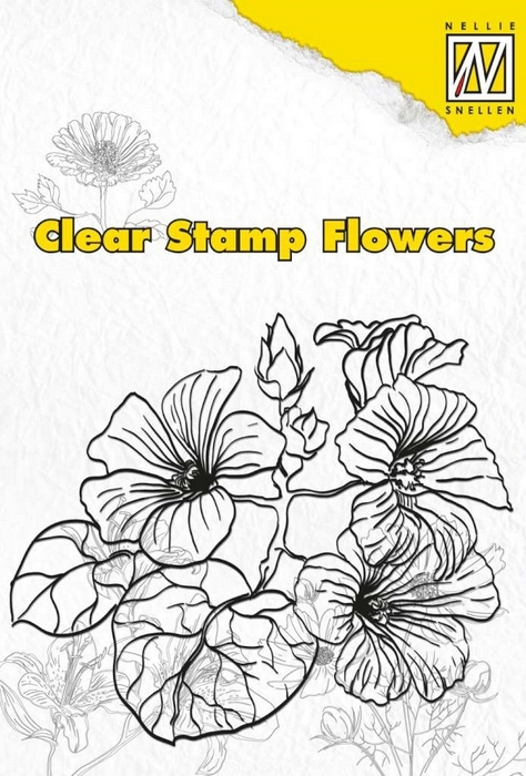 Nellies Choice Clear stempel flowers hibiscus