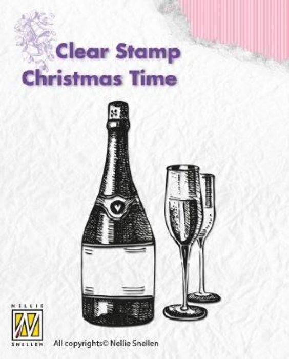 Nellies Choice Clearstempel - Christmas time  Champagne CT007