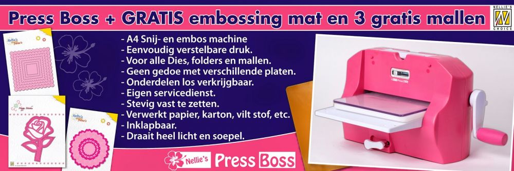 Nellies Choice PressBoss - A4 stans- en embossingmachine