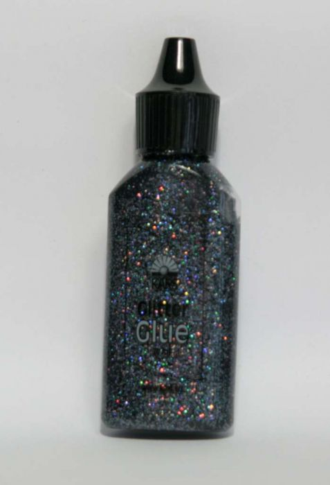Glitterlijm rainbow antracite 20 ml