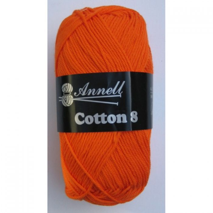 Annell Cotton 8 donkeroranje 20