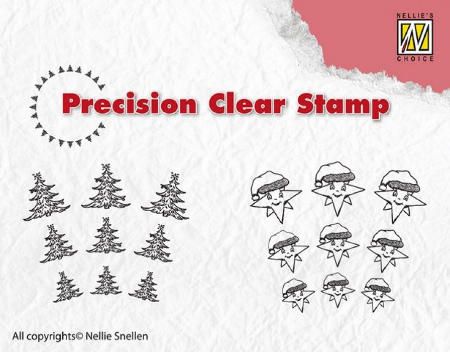 Clearstempel - Precission Stamps - Kerstboom - ster