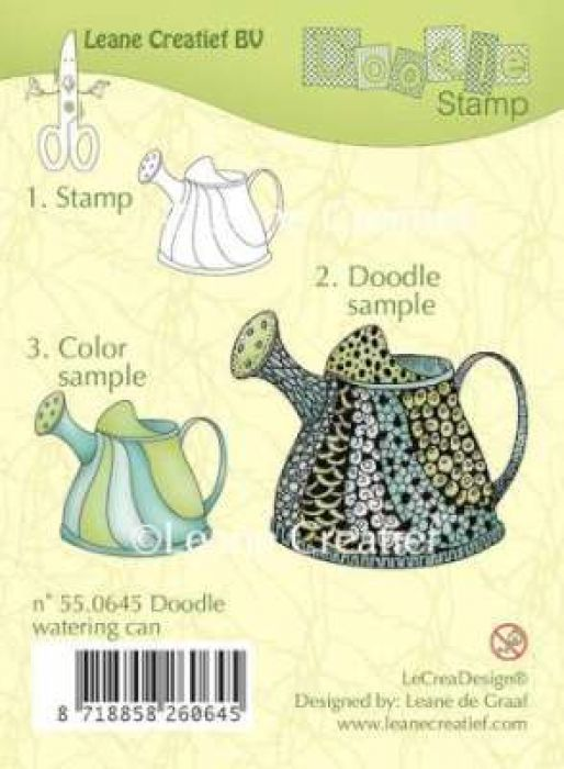 LeCrea - Doodle clear stamp Watering can