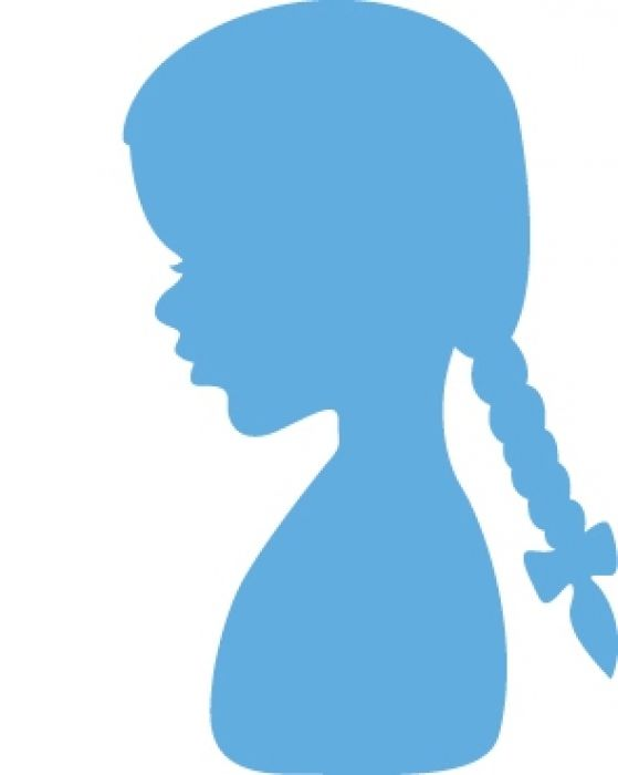Marianne D Creatable Silhouette girl with braids