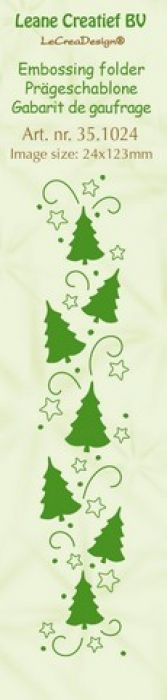 LeCrea - Border embossing folder Christmas trees 351024