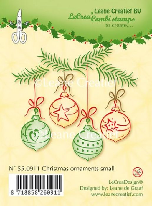 LeCrea - Clear stamp Christmas ornaments small 550911