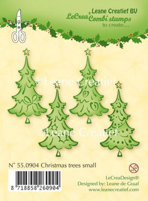 LeCrea - Clear stamp Christmas trees small 550904