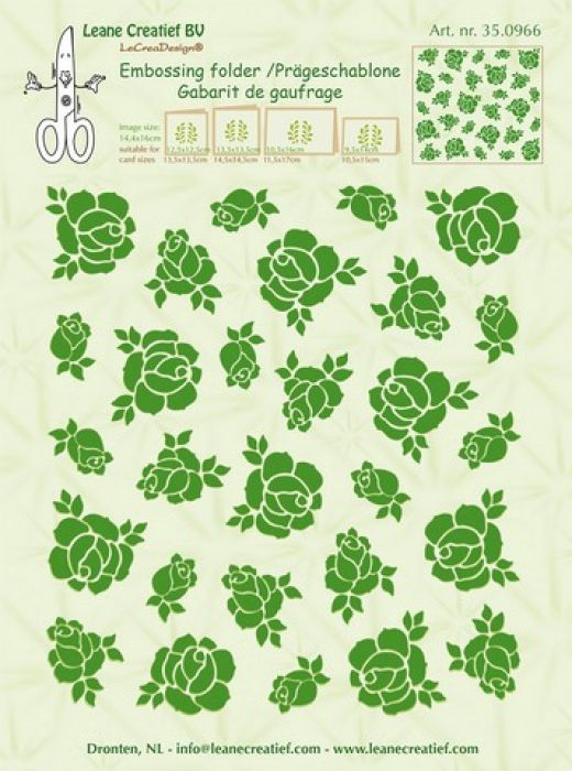 LeCrea - Embossing folder background Roses 350966