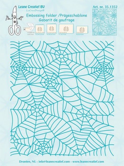 LeCrea - Embossing folder background Spider web 14,4x16cm