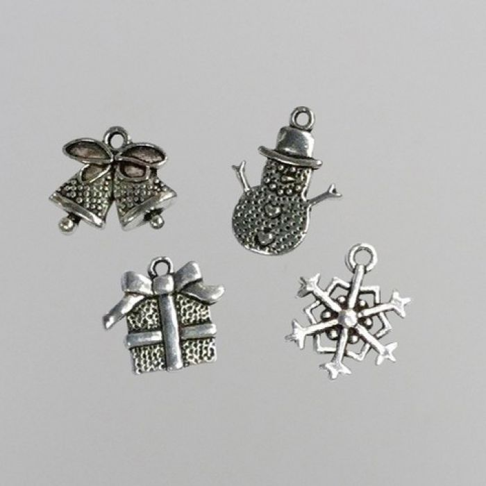Nellie`s Choice Set 8 metalen bedels Kerst CHARM005