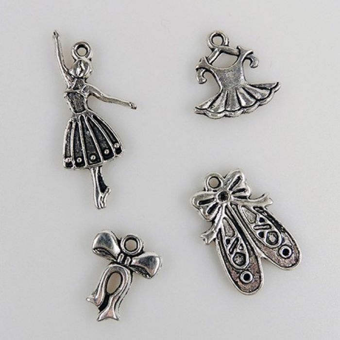 Nellie`s Choice Set 8 metalen bedels meisje CHARM002