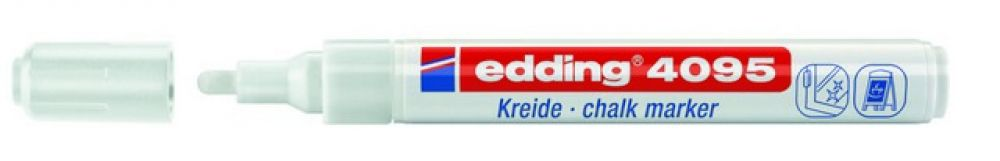 edding-4095 kalk / window marker wit 1ST 2-3 mm