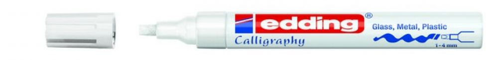 edding-755 kalligrafie glanslak marker wit 1ST 1-4 mm / 4-755049