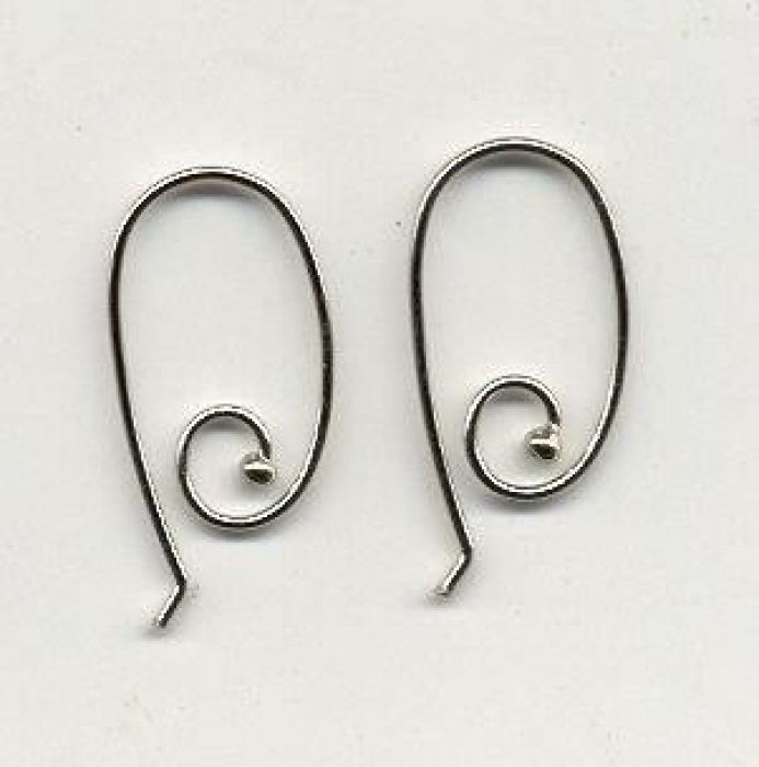 Earring platinum 13x24MM 2 ST/blister 12182-8203