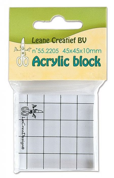 LeCrea - Acrylic clear stamp block  45x45x10mm