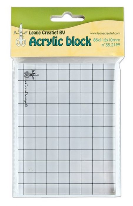 LeCrea - Acrylic clear stamp block    85x115x10mm