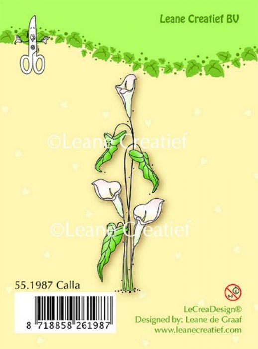 LeCrea - Clear stamp Calla 55.1987