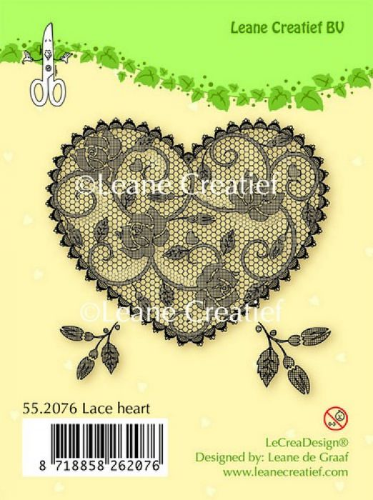 LeCrea - Clear stamp Lace Heart 55.2076