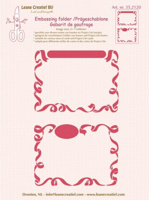 LeCrea - Embossing folder 2x Little Frames   71x96mm