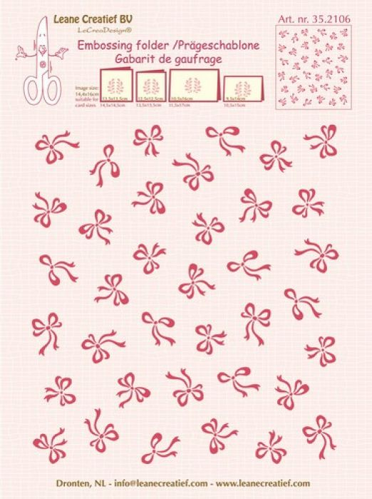 LeCrea - Embossing folder background Bows  14.4x16cm