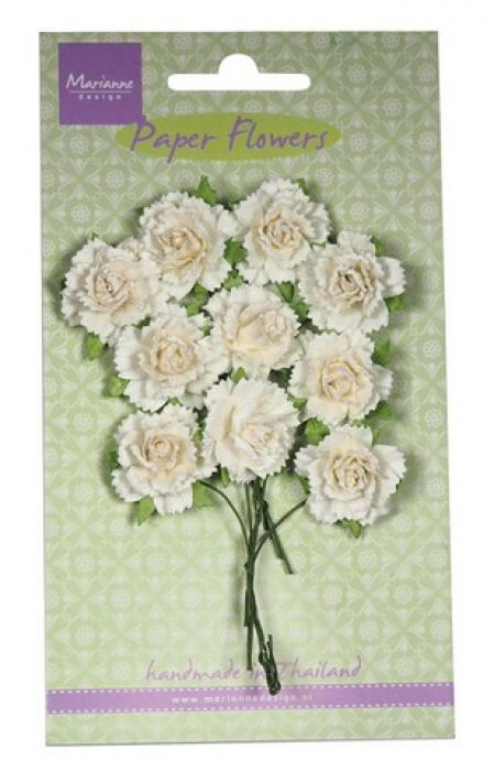 Marianne D Decoration Carnations - white RB2256