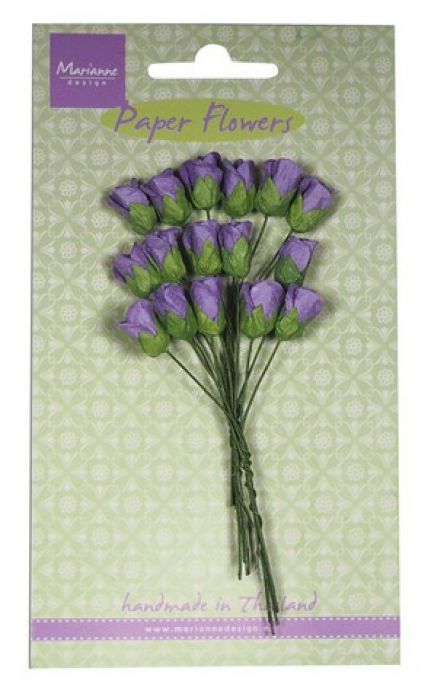 Marianne D Decoration Roses bud - dark lavender RB2243 (
