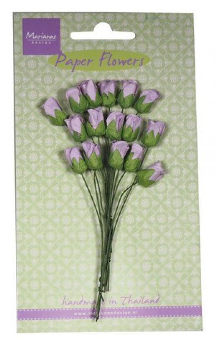 Marianne D Decoration Roses bud - light lavender RB2242