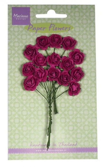 Marianne D Decoration Roses - medium pink RB2247