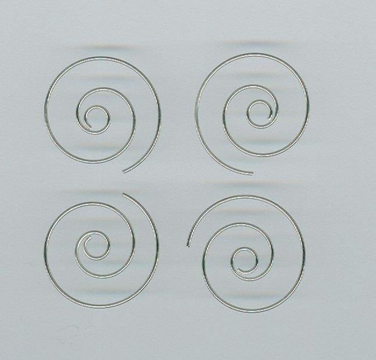 Oorring spiraal 25mm platinum 2 paar 12224-2416