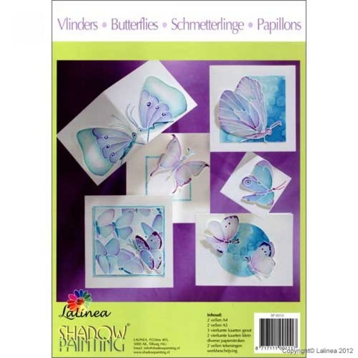 Shadowpainting set A3 - vlinder patronen & papier SP0010