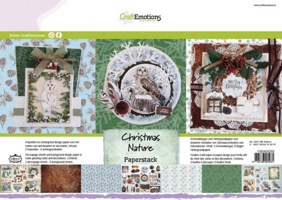 CraftEmotions Paper stack Christmas Nature 11 vel A4