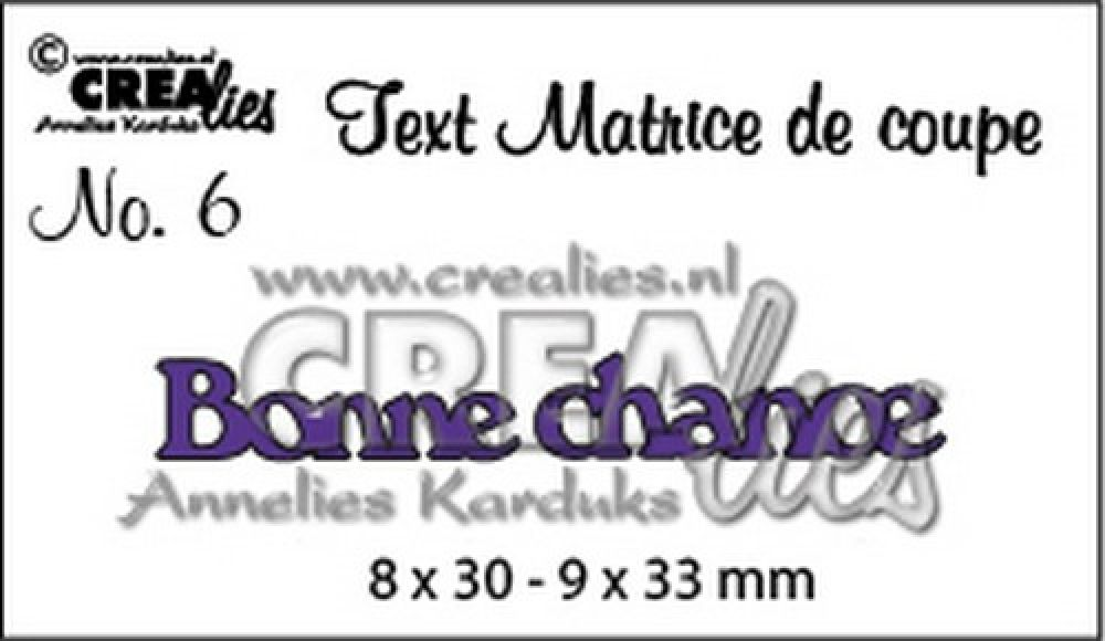 Crealies Tekststans (FR) nr 6 Bonne chance 8x30 - 9x33 mm / CLTM06