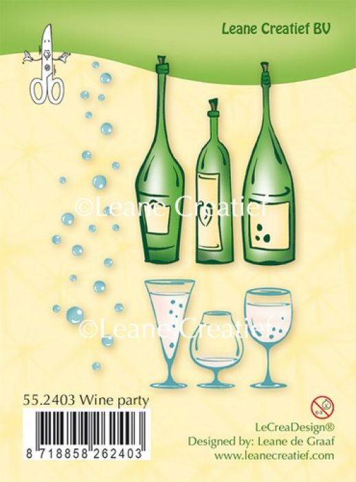 LeCrea - Clear stamp Wine party 55.2403