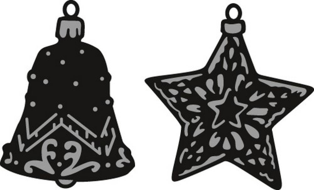 Marianne D Craftable Tiny`s ornaments star & bell CR1382