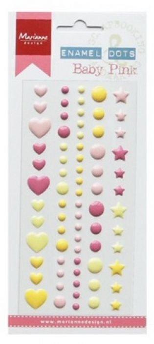 Marianne D Decoration Enamel dots - Baby pink PL4512