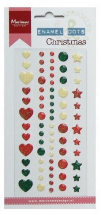 Marianne D Decoration Enamel dots - Christmas PL4509