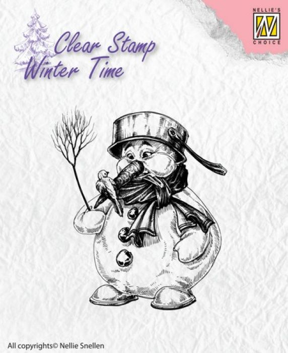 Nellie`s Choice Clearstamp - Winter Time Sneeuwman WT001