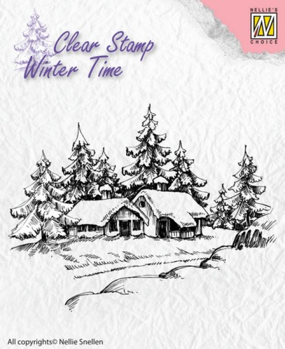 Nellie`s Choice Clearstamp - Winter Time Winter huis WT002