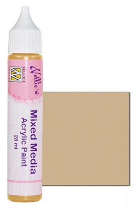 Nellies Choice Mixed media verf satijn beige 28ml MMAP010
