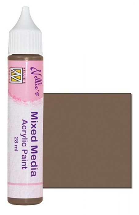 Nellies Choice Mixed media verf satijn bruin 28ml MMAP008