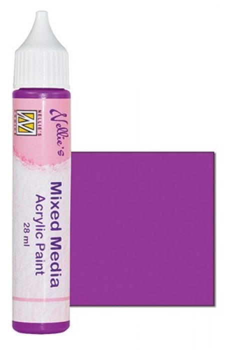 Nellies Choice Mixed media verf satijn fuchsia 28ml MMAP004