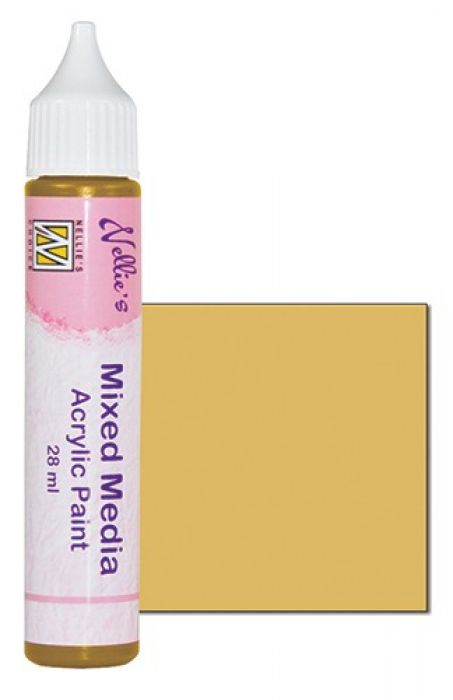 Nellies Choice Mixed media verf satijn oker 28ml MMAP009
