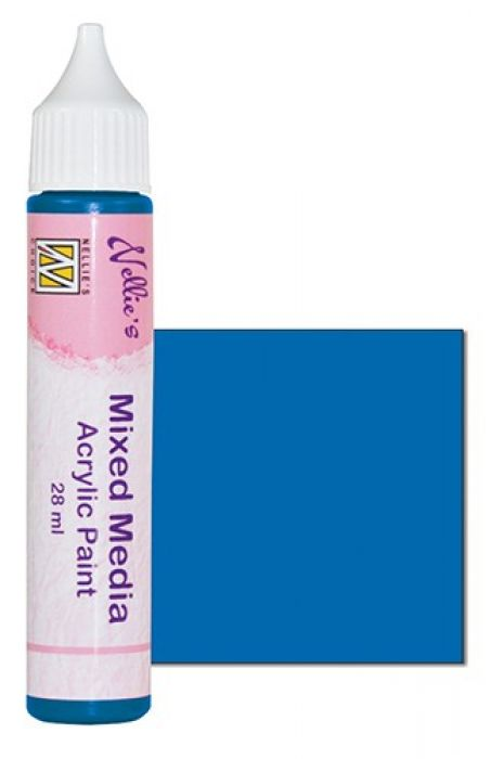 Nellies Choice Mixed media verf satijn prim. blauw 28ml MMAP005