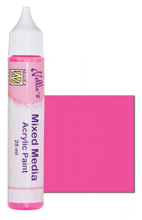 Nellies Choice Mixed media verf satijn roze 28ml MMAP003