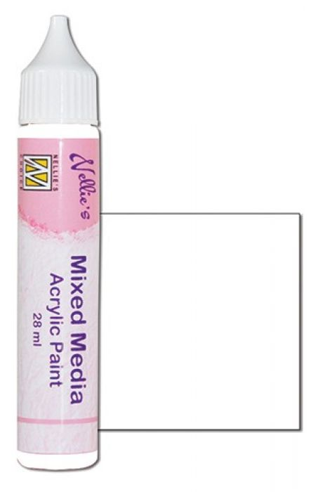 Nellies Choice Mixed media verf satijn wit 28ml MMAP001