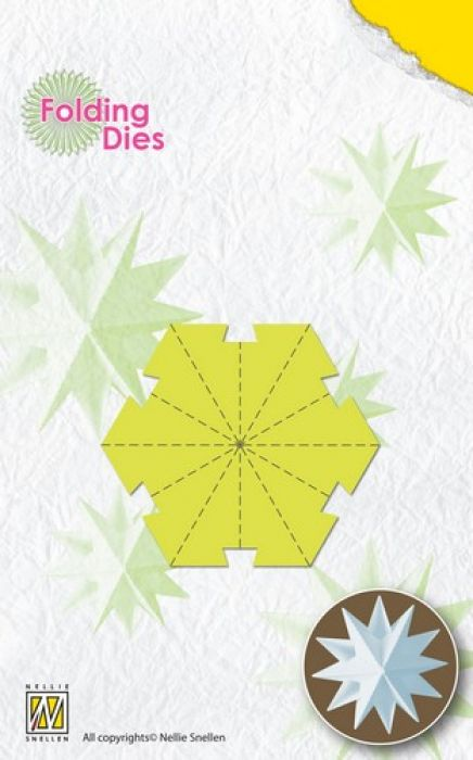 Nellies Choice Rosette Folding Die - kerstbal ster klein NFD018