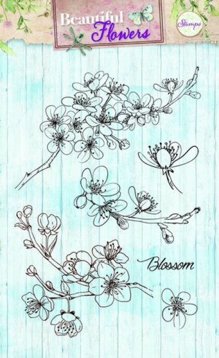 Studio Light Clearstempel A6 Beautiful Flowers nr 142 STAMPBF142