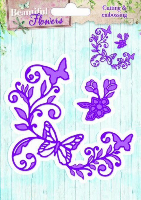 Studio Light Embossing Die Cut Stencil Beautiful Flowers nr 02 STENCILBF02