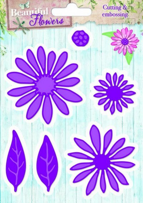 Studio Light Embossing Die Cut Stencil Beautiful Flowers nr 03 STENCILBF03